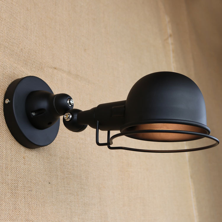 LEDream Designer loft rural industrial wind  wrought iron creative personality, mechanical arm of the head of a bed wall lamp american creative fashion led the study bedroom mirror before the long arm of the head of a bed wall lamp wrought iron long arm