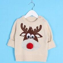Kid's Christmas Deer Printed Sweater