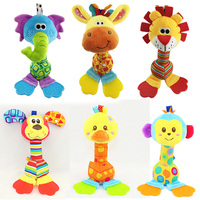 Brands Baby Toy 22cm Cartoon Animal Teether Rattles Stick Squeaker BB Sounder Early Educational Juguetes Free
