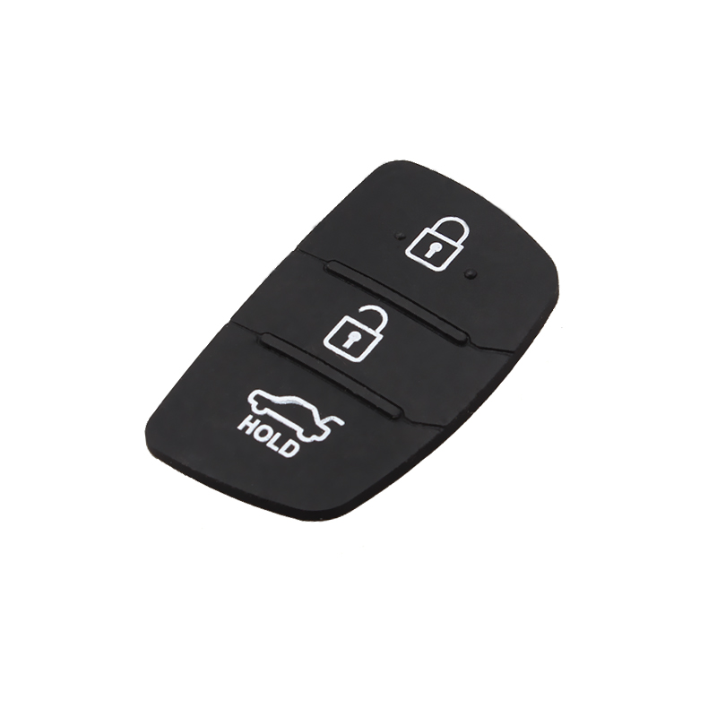 New Auto Parts Replacement 3 Button Rubber Silica Key Case Pad For 2013-2014 Hyundai Santa Fe (ix45) Flip Car Key Cover
