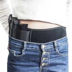 Escondido levar mão esquerda/direita final barriga banda coldre pistola holsters com compartimento bolsas se encaixa todos pistola