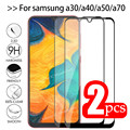 2 шт./лот, стекло для Samsung Galaxy A70 A40 A30 A50 с полным клеем, защитное стекло Galax A 50 30 40 70 50A 70A