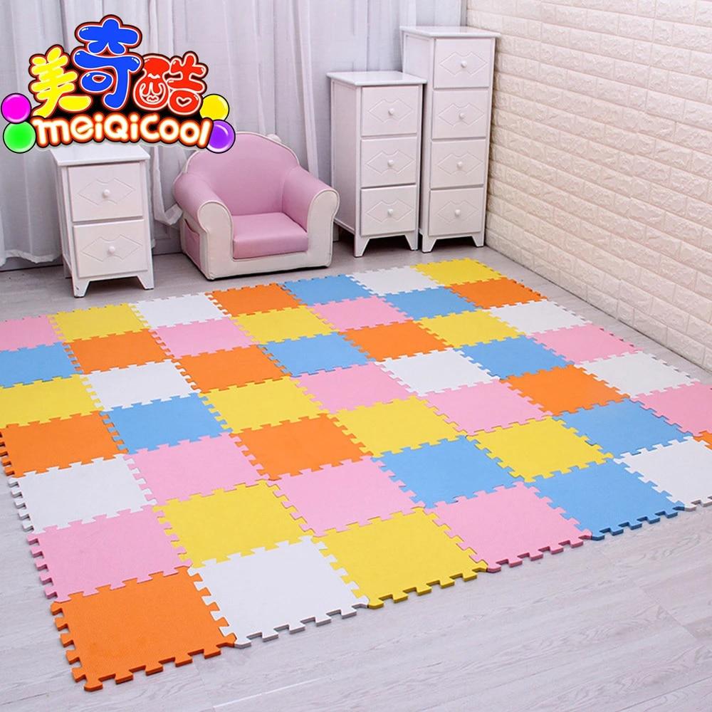 tapis de jeu puzzle en mousse eva pour bebe tapis de sol pour enfants de carreaux d exercice imbriques de 30cm x 30cm 1cm d epaisseur 9 18 ou