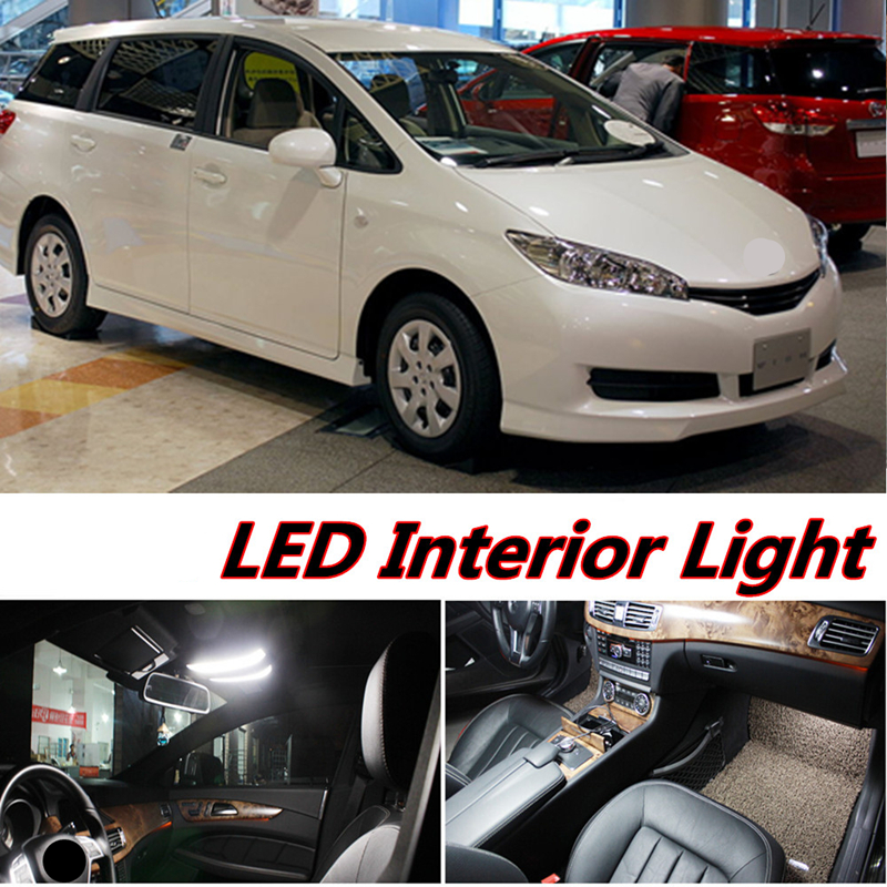 Tcart 6 X Error Free Car LED Bright Vehicle Interior Map Dome Door Lights Kit Package For Toyota Wish Accessories 2004-2015