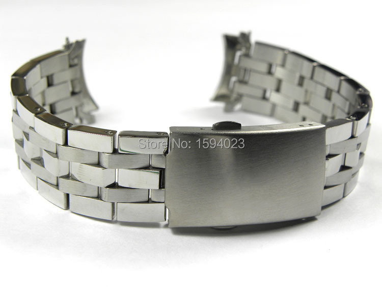 19mm PRC200 T17 T461 T014430 T014410 Watchband Watch Parts male strip Solid Stainless steel bracelet strap 19 mm prc200 t17 t461 t014430 t014410 male bracelet bracelet watch parts of the strip of solid stainless steel bracelet