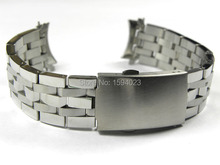 19mm PRC200 T17 T461 T014430 T014410 Watchband Watch Parts male strip Solid Stainless steel bracelet strap