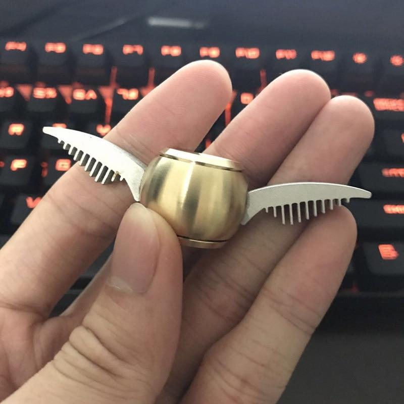 New Fidget Spinner Harry Potter Skinner Spiner Hand Spinner Manual Anti Stress Toys Top Golden Snitch