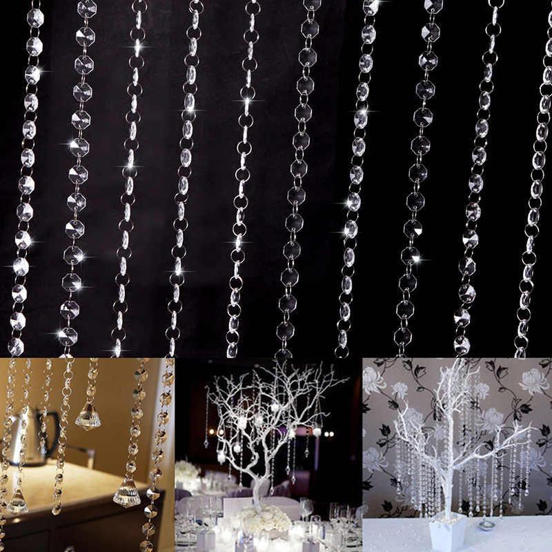 Свадебные DIY Декор алмазные акриловые кристаллические бусы занавес Вертикальная гирлянда оконные шарфы Новинка