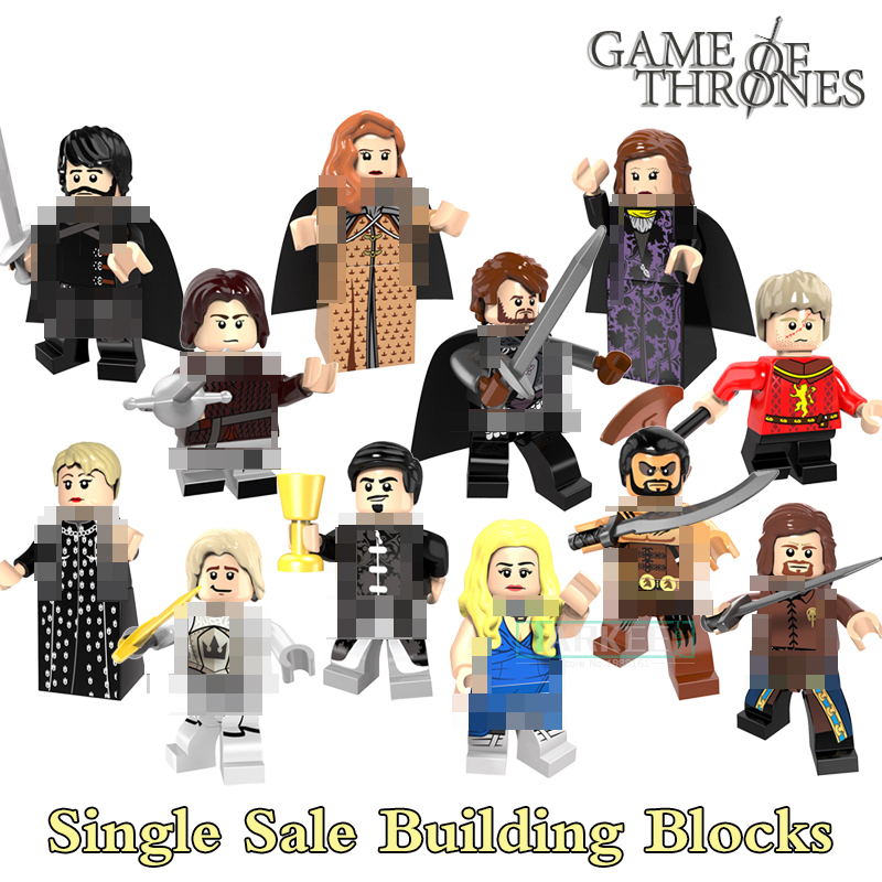 Building Blocks PG8072 Alicia Robb Stark petyr Baelish Super Hero Star Wars Game of Thrones Bricks Kids DIY Toys Hobbies Figures building blocks agent uma thurman peeta dc marvel super hero star wars action bricks dolls kids diy toys hobbies kl069 figures