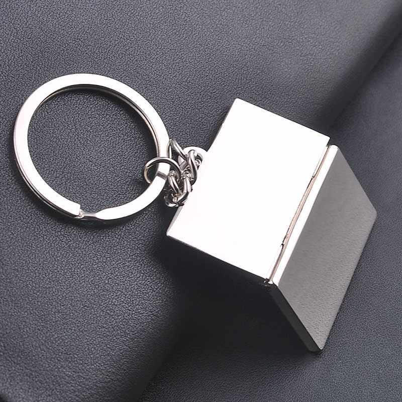 1 piece החדש Creative Keychain סגסוגת מפתח טבעות אישיות אופנה מחשב נייד קולב תיק פשוט מתנה נחמדה לנשים וגברים