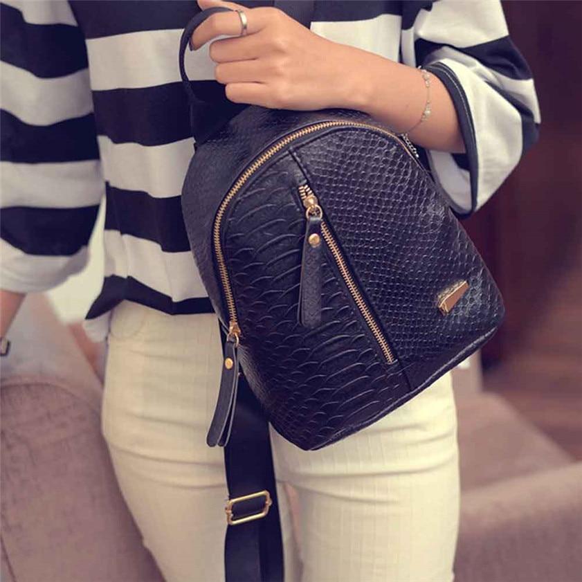 High quality Women Leather Backpacks Schoolbags font b Travel b font Shoulder font b Bag b