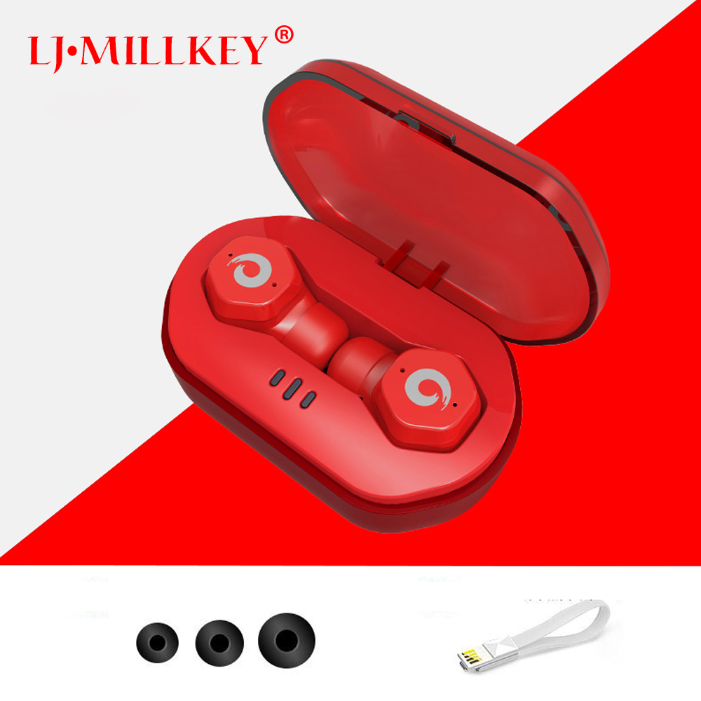 Touch Wireless Control Earphones IPX7 Waterproof Bluetooth 4.2 Earphone TWS Wireless earphone for iphone Siri Remote YZ186