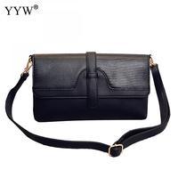 YYW 2018 New Designer Women Crossbody Bag Fashion Pu Leather Shoulder Messenger Bag Bolsas femininas High Quality Black Cluthes