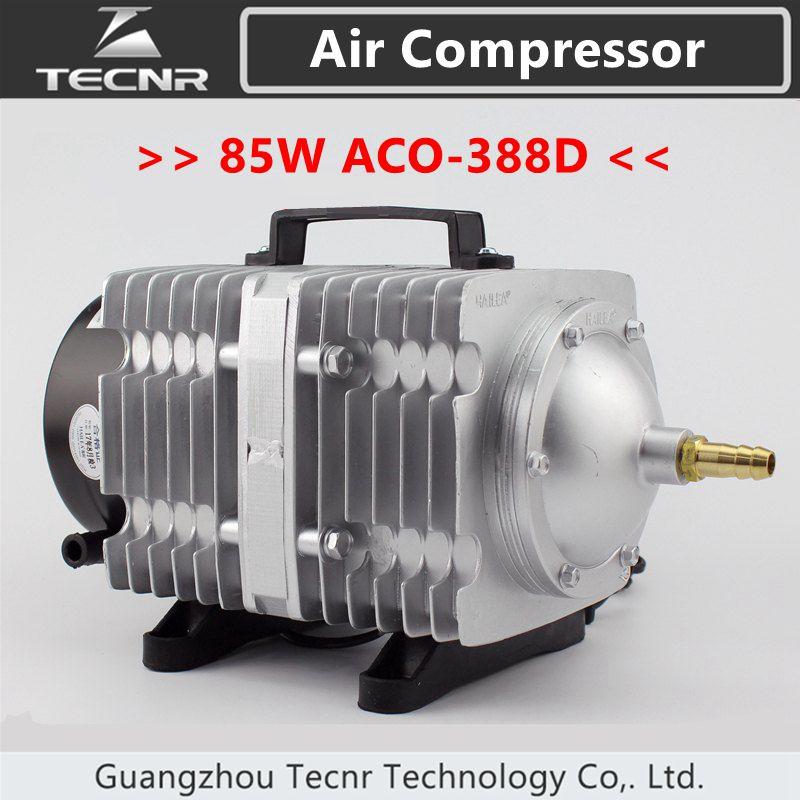 TECNR 85W Air Compressor Electrical Magnetic Air Pump 90L/min for CO2 laser cutting machine ACO-388D