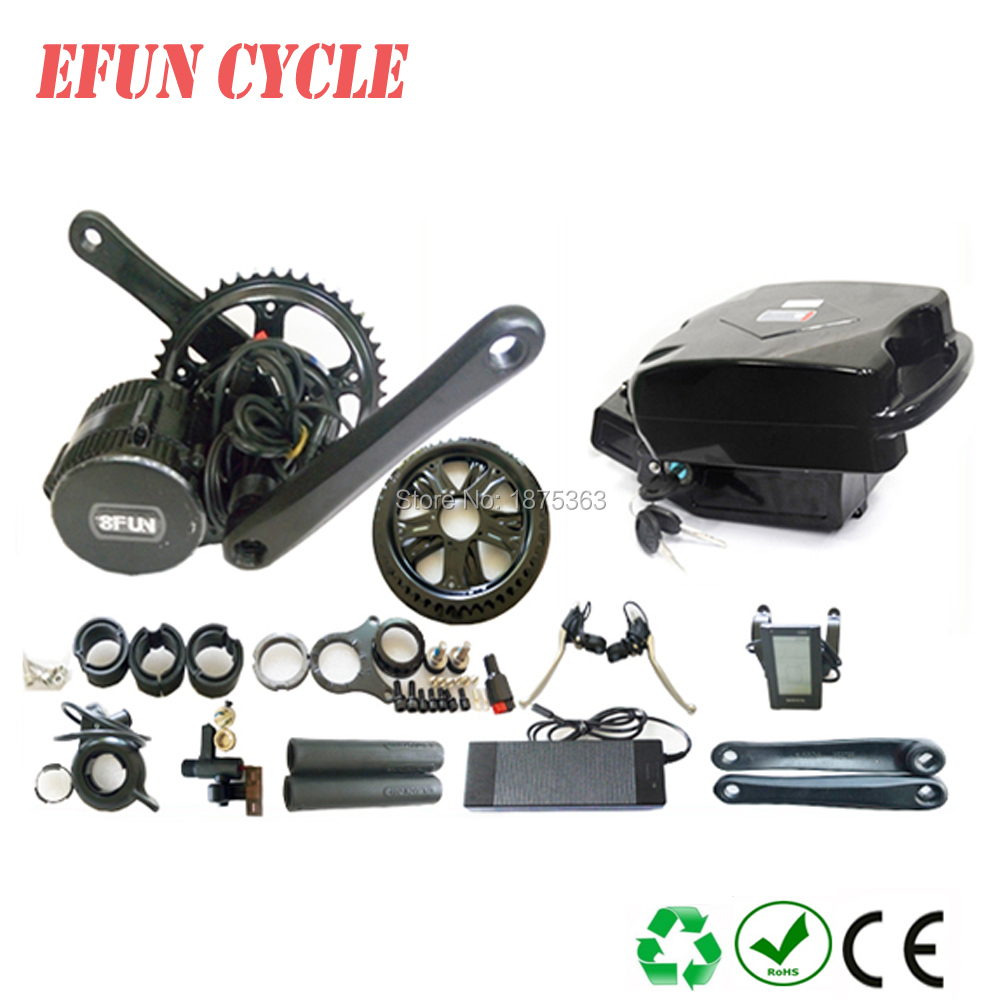 Free shipping 2018 8Fun/Bafang BBS02B 48V 750W mid drive motor kits with 48V 13Ah little frog battery for fat tire bike