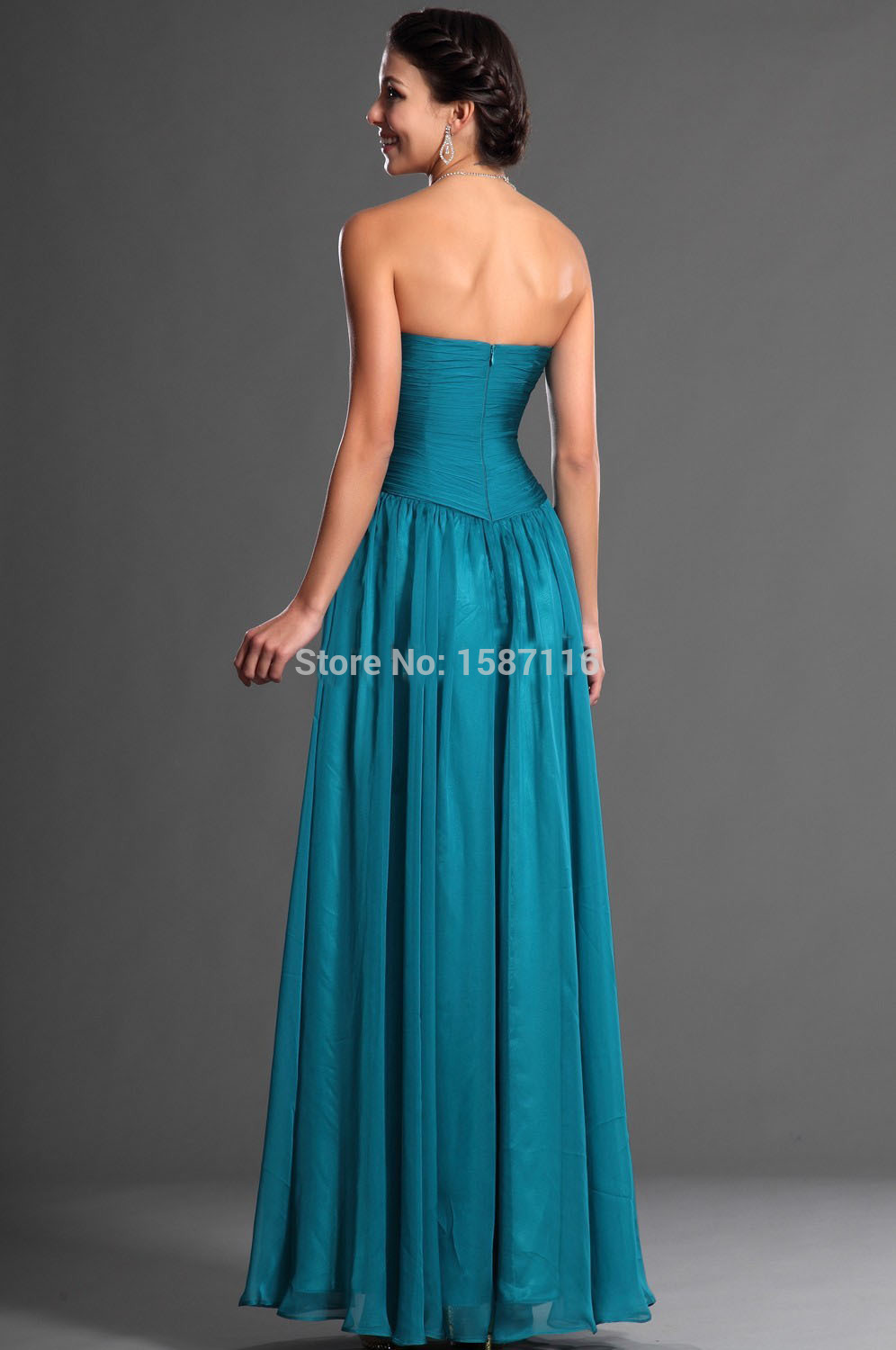 2015 custom high quality bridesmaid dress sweetheart long chiffon 2015 custom high quality bridesmaid dress sweetheart long chiffon turquoise bridesmaid dresses vestido turquesa mint dress in bridesmaid dresses from ombrellifo Image collections
