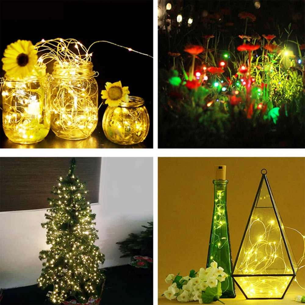 5 m 50LEDs Glowing String Light Christmas Tree DIY Decor Light 3AA Battery Box Colorful Copper Wire String Christmas Decoration