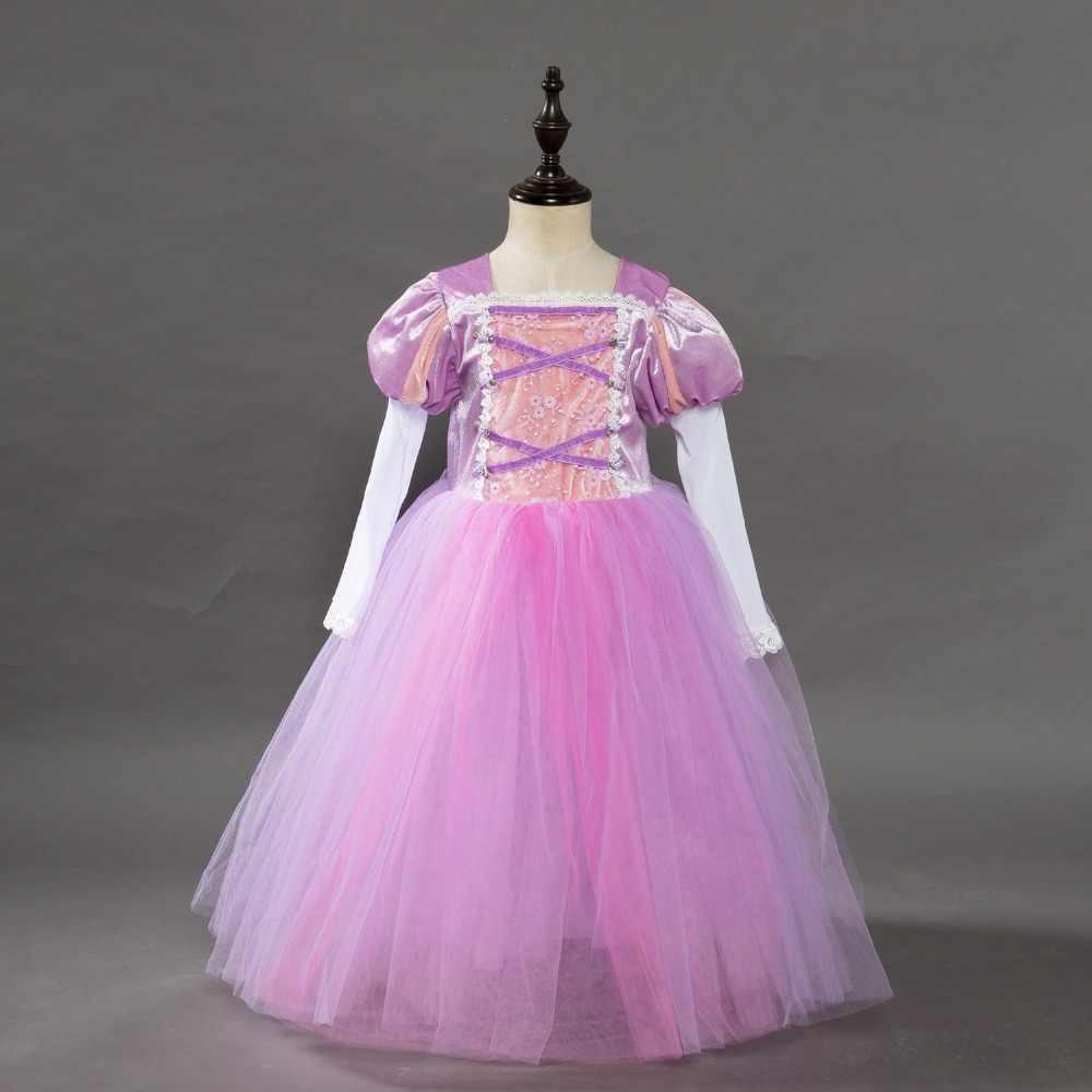 Маскарадный костюм для маленьких девочек; платье Золушки, Рапунцель на Хэллоуин; платье принцессы Спящей красавицы; Детские вечерние рождественские платья для девочек