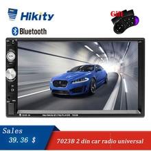 """Hikity 2 Din Auto radio 7 """"HD Car Radio MP5 Giocatore Dello Schermo di Tocco 7023B Supporto Bluetooth Videocamera vista posteriore del Volante di controllo"""