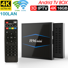 H96mini Android 7,1 TV Box Amlogic S905W Quad Core 2 GB RAM DDR3 16 caja de la inteligente WiFi 4 K H.265 Set Top