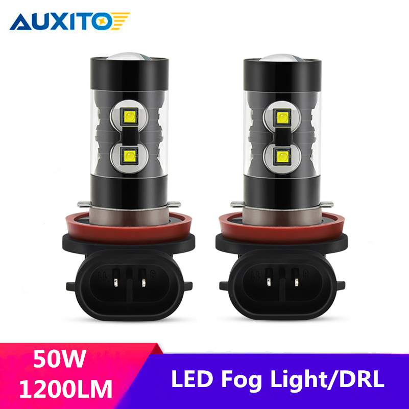 Led Fog Light H11 H7 H8 H9 H3 H1 White 50W LED Bulb DRL Auto Lamp For <font><b>Audi</b></font> 100 A4 B8 C5 Q5 A3 B6 B7 A5 <font><b>A6</b></font> C6 C7 Q3 Q7 TT S3 image