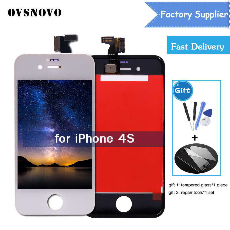 watch e4d44 fbb3a US $12.46 |For iPhone 4S A1387/A1431 LCD Display Touch Screen Digitizer  Assembly Replacement Parts Black White LCD For iPhone 4S Screen-in Mobile  ...
