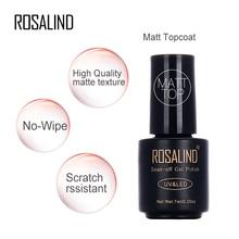 Rosalind 1 шт. матовое верхнее покрытие УФ-гель для дизайна ногтей лак 7 мл матовый верхнее покрытие Светодиодный УФ замачиваемый УФ-гель лак