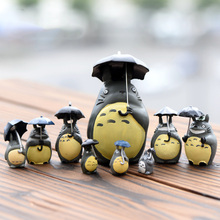 Studio Ghibli My Neighbor Totoro – Totoro Figure Resin Mini Garden Decoration Crafts Figures -9 pc