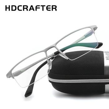 HDCRAFTER Prescription Myopia Glasses Frame Eyeglasses Frames Men Optical Glasses Frames for Women Reading Computer Eyewear