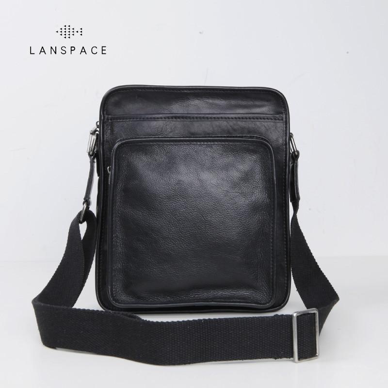 LANSPACE genuine leather men bag fashion crossbody bag brand shoulder bag lanspace genuine leather men bag famous brand crossbody bag fashion shoulder bags