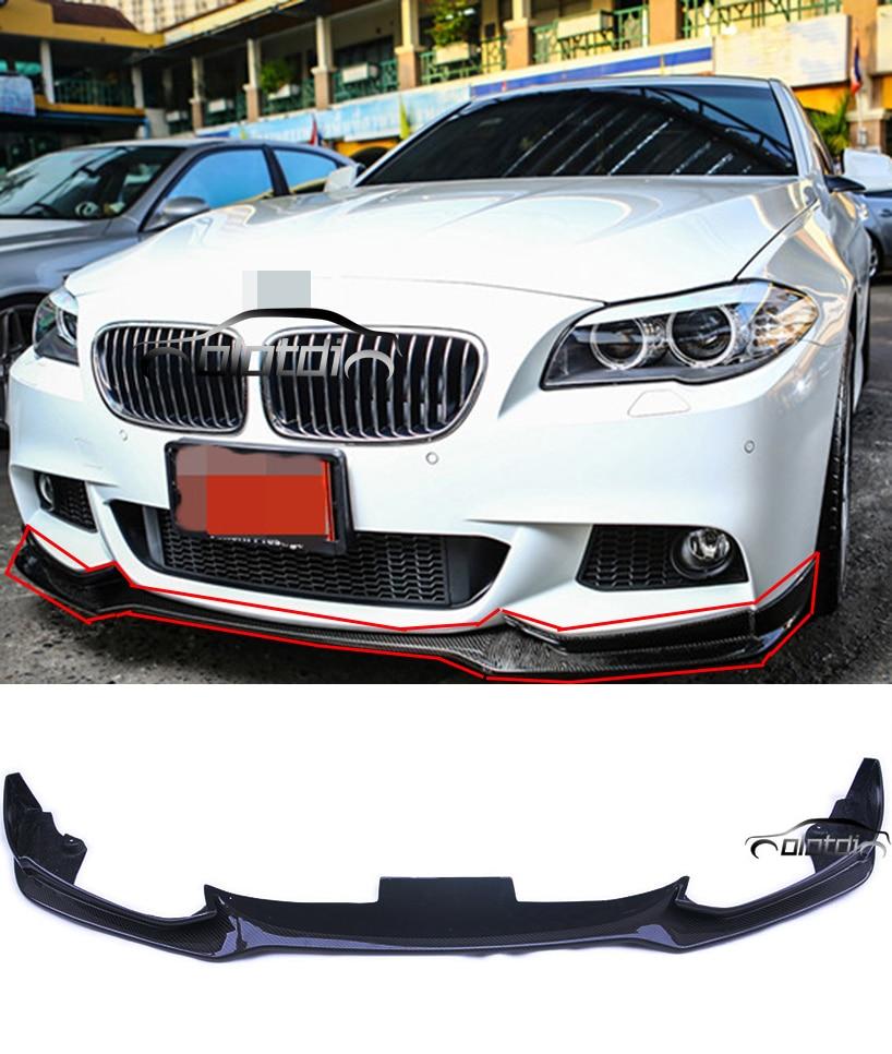 Carbon Fiber E F10 M-tech Front Bumper Lip Fit for BMW F10 5 Series M-tech Front Bumper diffuseur arrière carbone bmw x4 f26
