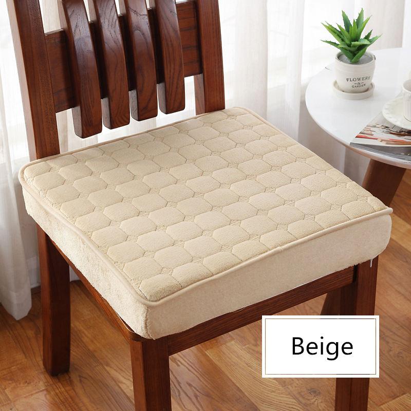 Solid Color 50*50cm Chair Cushion Window Seat Pad Thicken Chair Cushion Home Office Decoration Cushion Sofa Car Sit Mat Winter
