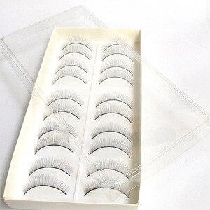Image 4 - 10Pair Makeup Training Lashes for Beginner False Eyelash Extension Practice Mink Lashes Full Strip Eyelashes Exercise Eye Beauty