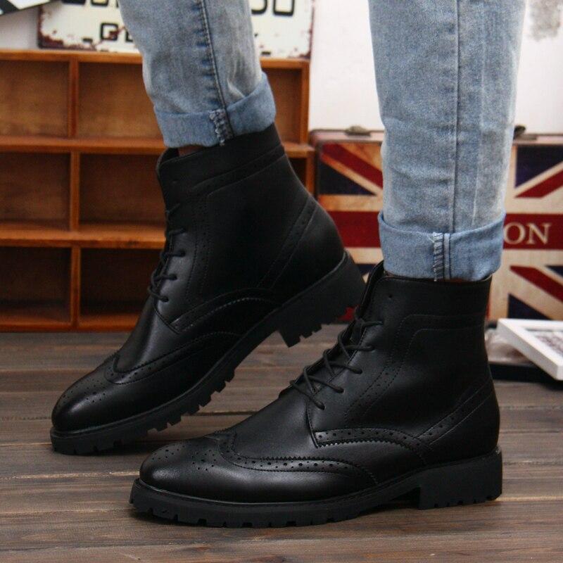 2017 Winter Schoenen Mannen Mode Laarzen Brogue Combat 8nm0vNw
