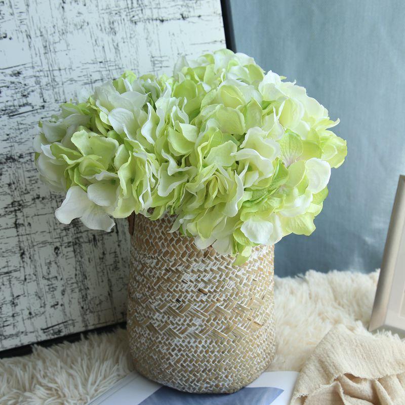 Artificial Hydrangea Silk Flower DIY Dekorativ Blom Bouquet Diy - Semester och fester - Foto 3