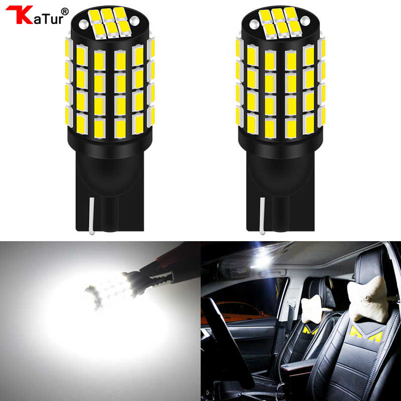 2x W5W LED T10 3014 54SMD Car lamps 168 194 Turn Signal License Plate Light Trunk Lamp Clearance Lights Reading Lamp DC12V