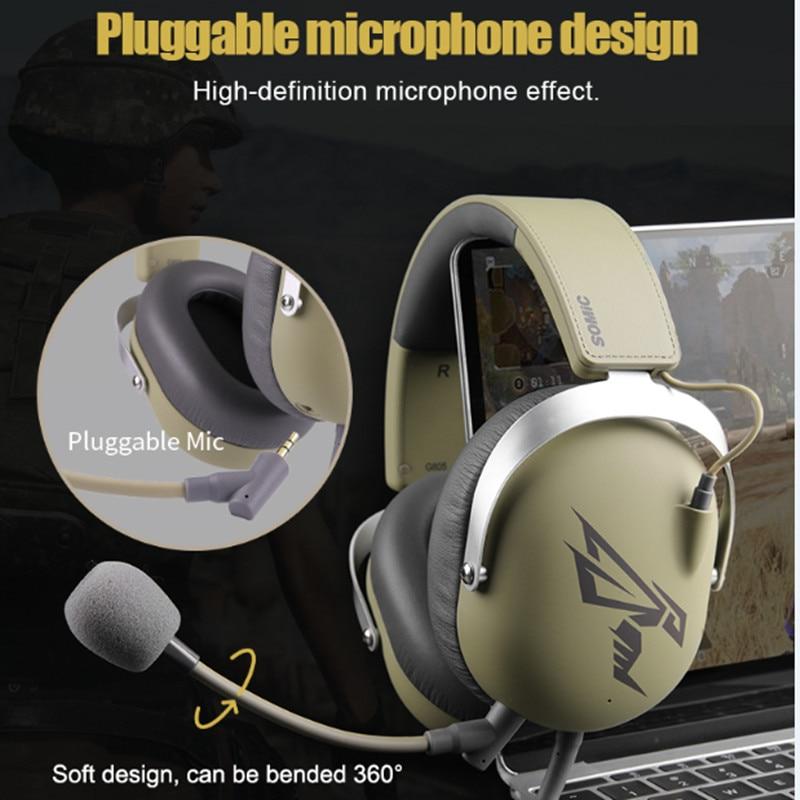 SOMIC Gaming Headsets usb 7.1 Virtual hoofdtelefoon casque met Microfoon voor PS4 PC Computer Gamer Video Game Xbox Game oortelefoon - 4