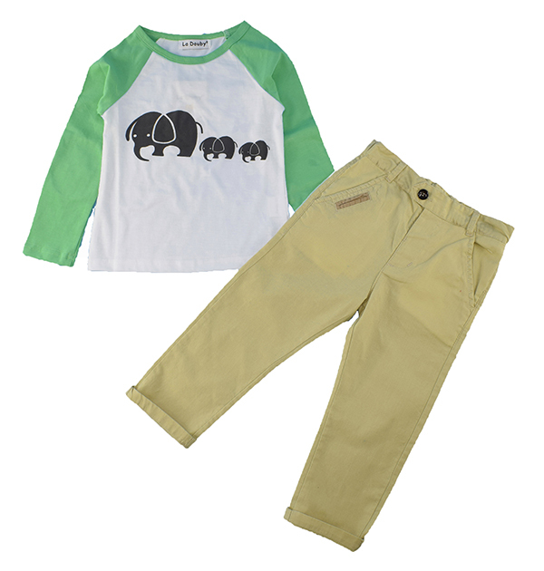 2015 NEW children boy clothing set Sport Casual Stripe boys set baby short t shirt+pants 2 pcs set clothes kids suit 3-8Years