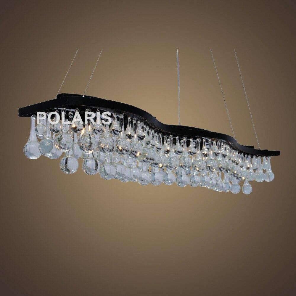 Doprava zdarma Moderní Vintage křišťálový lustr osvětlení slzy kapky lustry přívěsek závěsné světlo pro domácí hotel vila výzdoba