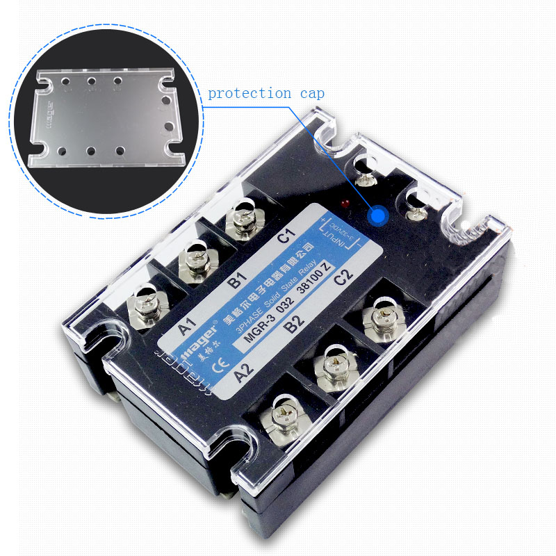 цена на Free shipping 1pc High quality 100A Mager SSR MGR-3 032 38100Z DC-AC Three phase solid state relay DC control AC 100A 380V