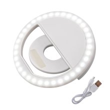 FGHGF Lighting Night Darkness Selfie ring light Enhancing voor telefoon Aanvullende USB charge LED Selfie Ring Light voor Iphone