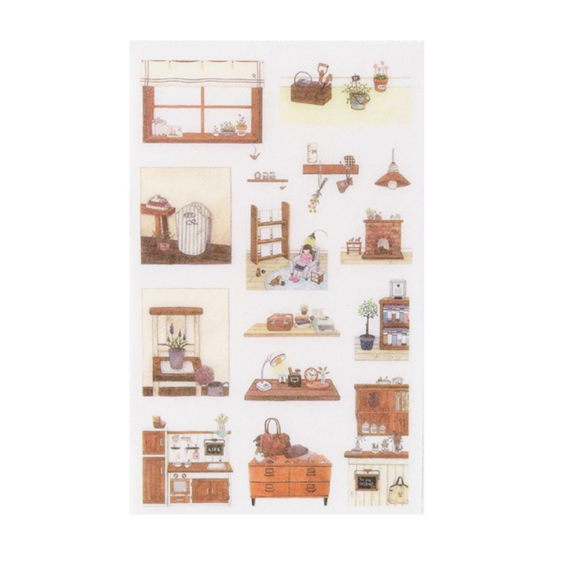 6 pcs/pack  Leisure Time Stickers Diary Sticker Scrapbook Decoration Stationery Stickers(China)