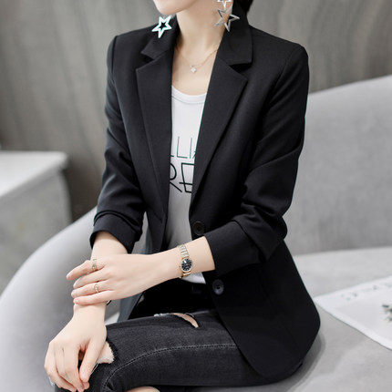 Blazers Hearty Ladies Blue Blazer 2018 Long Sleeve Blasers Womens Suit Jacket Office Female Feminine Blazer Femme Work Jacket For Women Black