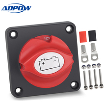 ADPOW Universal 12V-48V Boat Marine Car Battery Isolator Master Switch Disconnect Cut Off Power Isolator Terminal Car Truck 1pair car truck boat battery isolator master cut off power kill switch universal spare keys