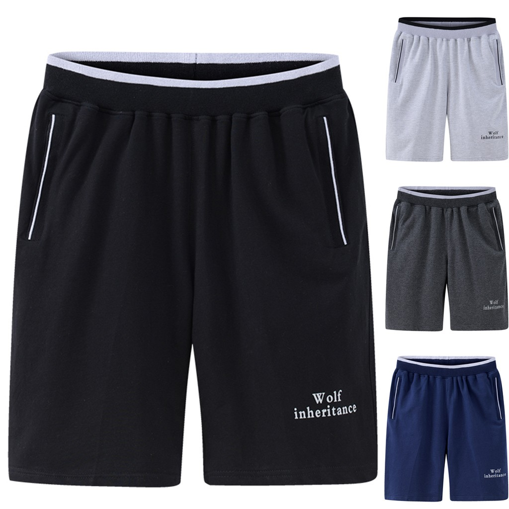 High Quality Cotton Men Shorts Summer 2019 Men's Summer New Style Loose And Large Size Pure Color Shorts Fashion Shorts Z417