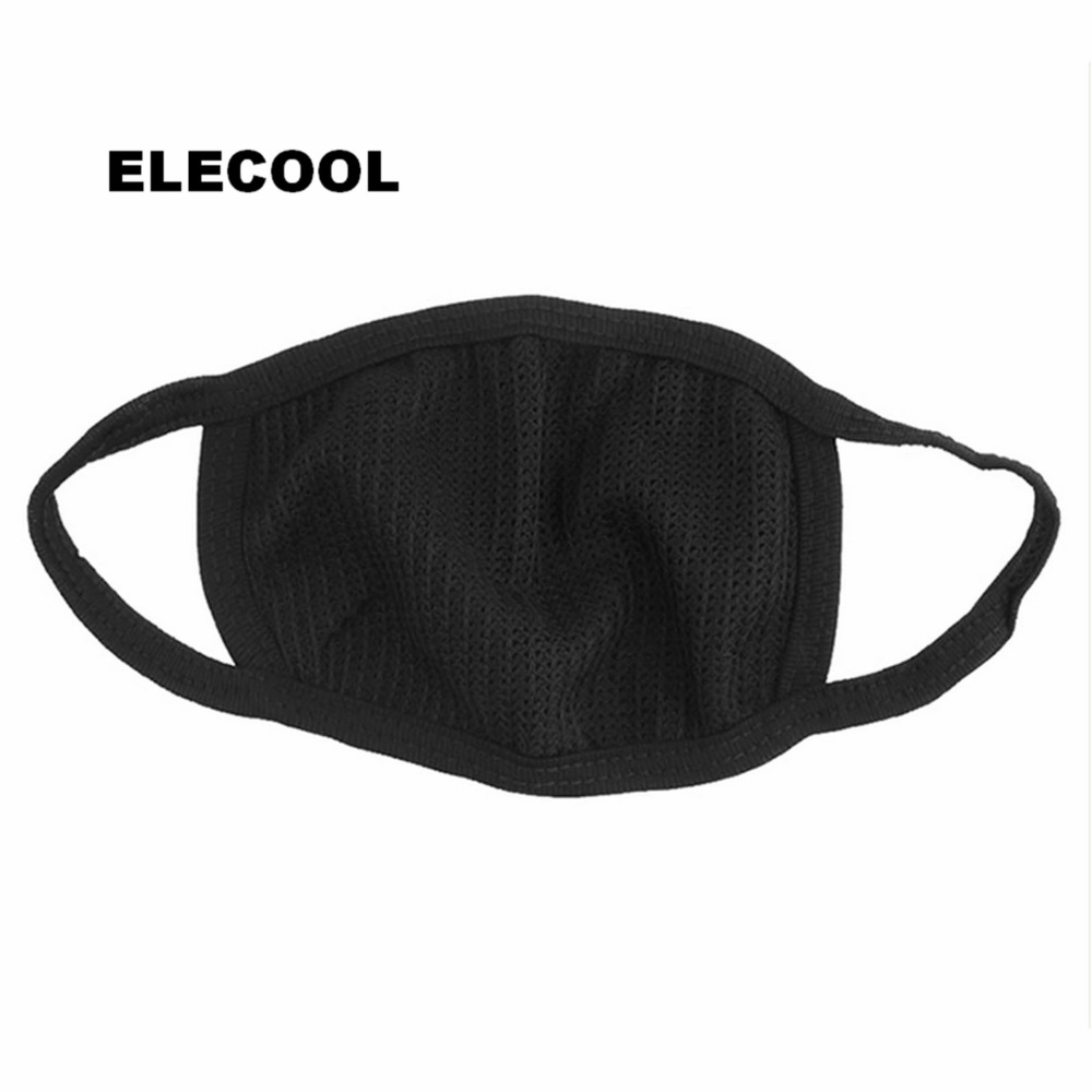2Pcs Cotton Yarn Mouth Face Mask Cycling Wearing Anti-dust Windproof Anti Dust Anti-pollution Respirator Black Face Care Tool