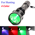 ANJOET 802 Tactical Flashlight 1-Mode White/Green/Red/Blue LED Torch Light 18650 Rechargeable For hunting Camping lanterna