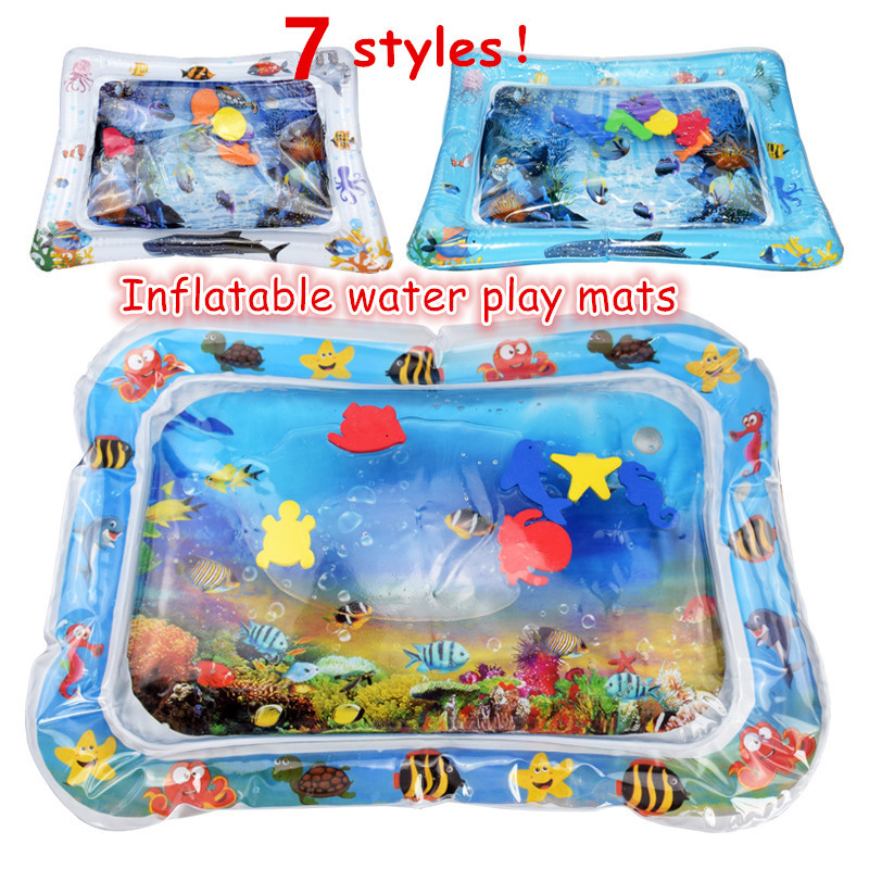Baby Inflatable Patted Pad Multifunction Water Play Mat Creative Toddler Activity Sensory Stimulation Cushion Crawling Kids Toy