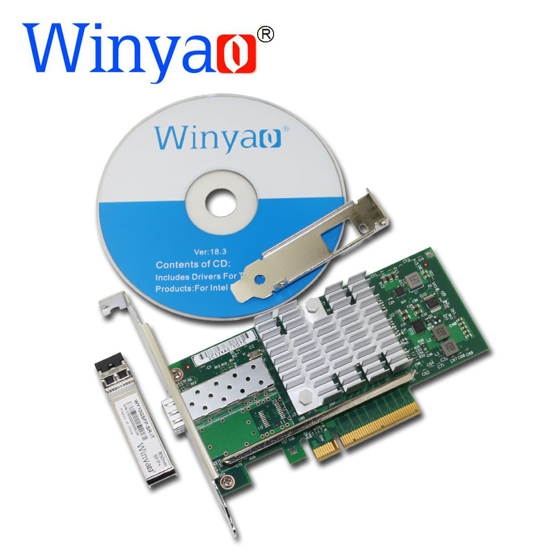 Winyao WYX520-SR1 10Gbps 850nm LC Fibre PCI-e 8x Ethernet Server Adapter with SFP+ 82599 E10G41BFSR X520-SR1 10000Mbps Nic