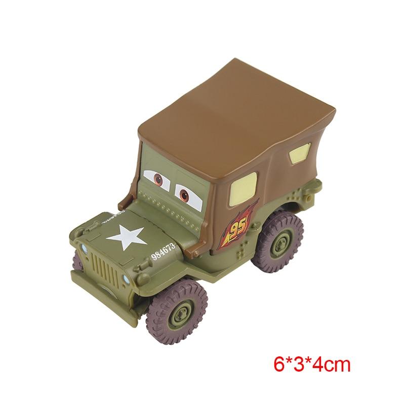 Дисней Pixar Тачки 2 3 Молния Маккуин матер Джексон шторм Рамирез 1:55 литье под давлением автомобиль металлический сплав мальчик малыш игрушки Рождественский подарок - Цвет: Sarge
